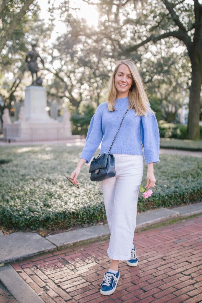How To Style White Jeans - What to Wear in Savannah, GA   Rhyme & Reason 1