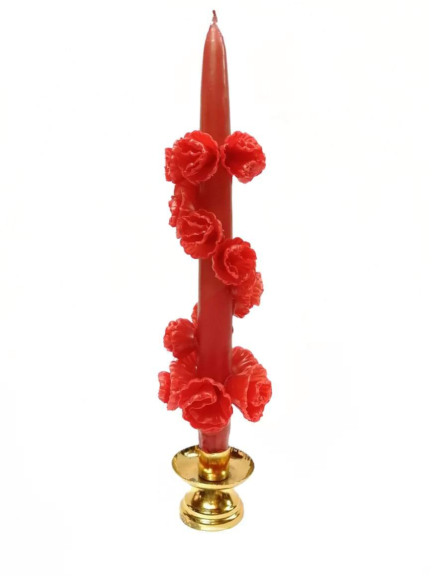 Red Flower Candles