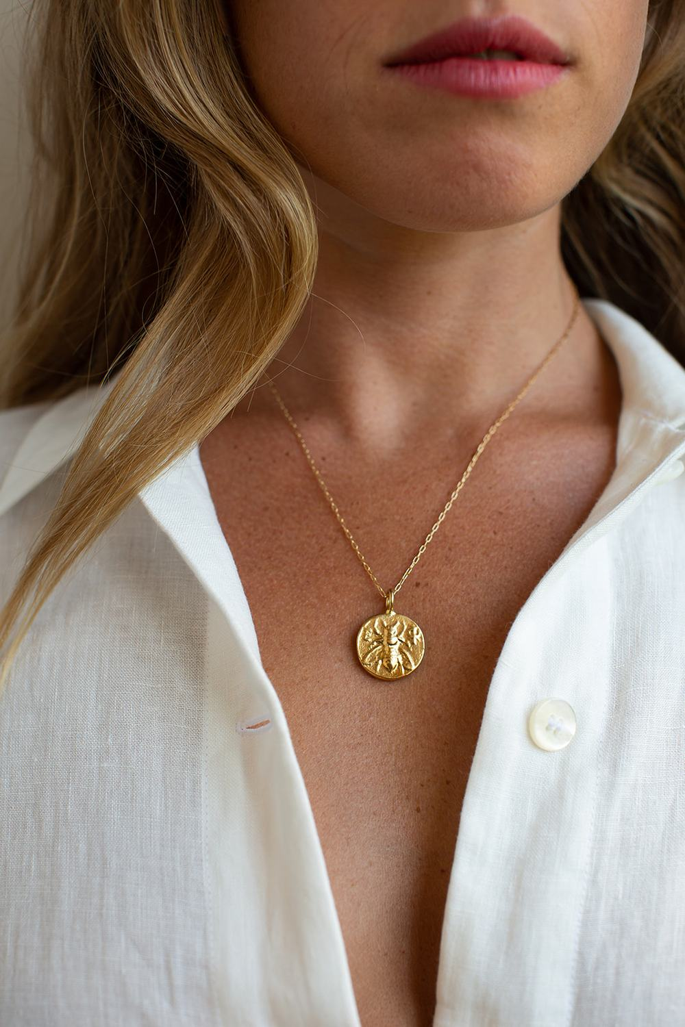 My Favorite Jewelry Designers For Unique Jewelry: Hart Hagerty Ephesus Bee Lucky Charm Necklace