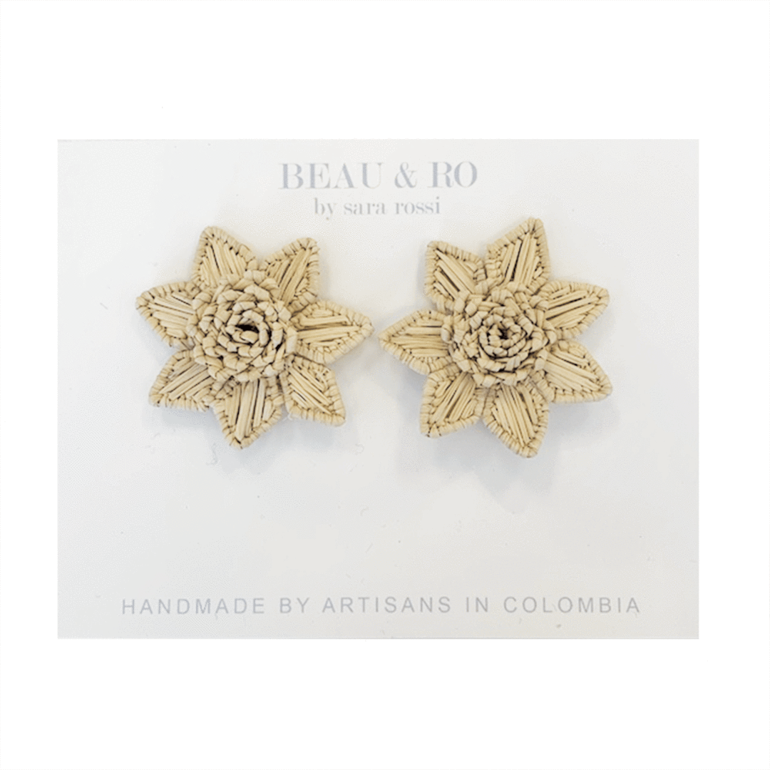 My Favorite Jewelry Designers For Unique Jewelry: Beau & Ro Flower Earrings