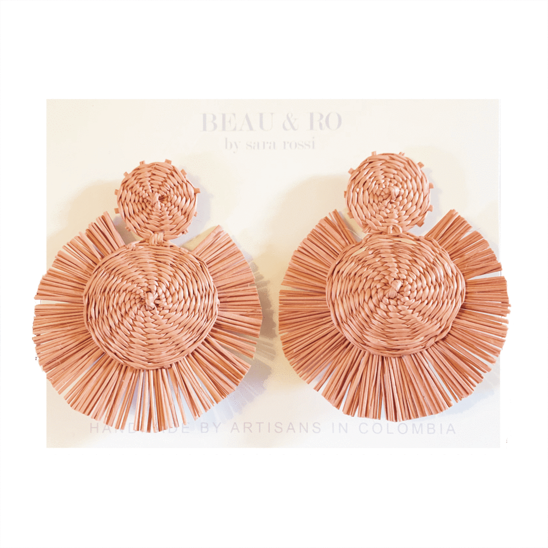 My Favorite Jewelry Designers For Unique Jewelry: Beau & Ro The Palm Round Earrings
