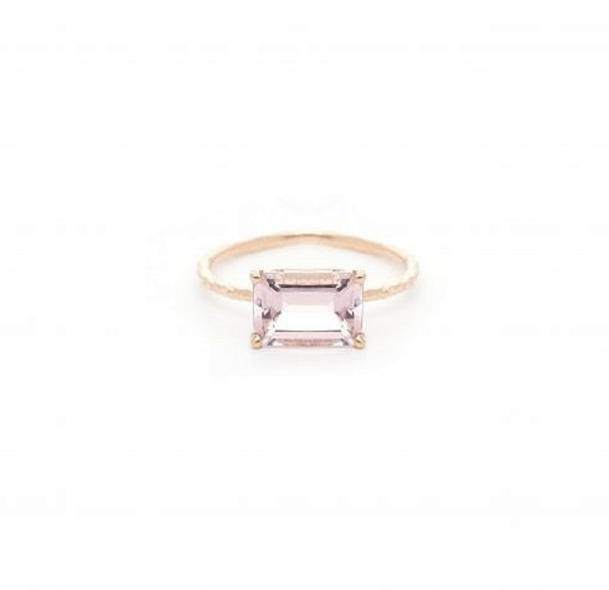 My Favorite Jewelry Designers For Unique Jewelry: Jane Pope Jewelry EMERALD CUT PINK MORGANITE RING