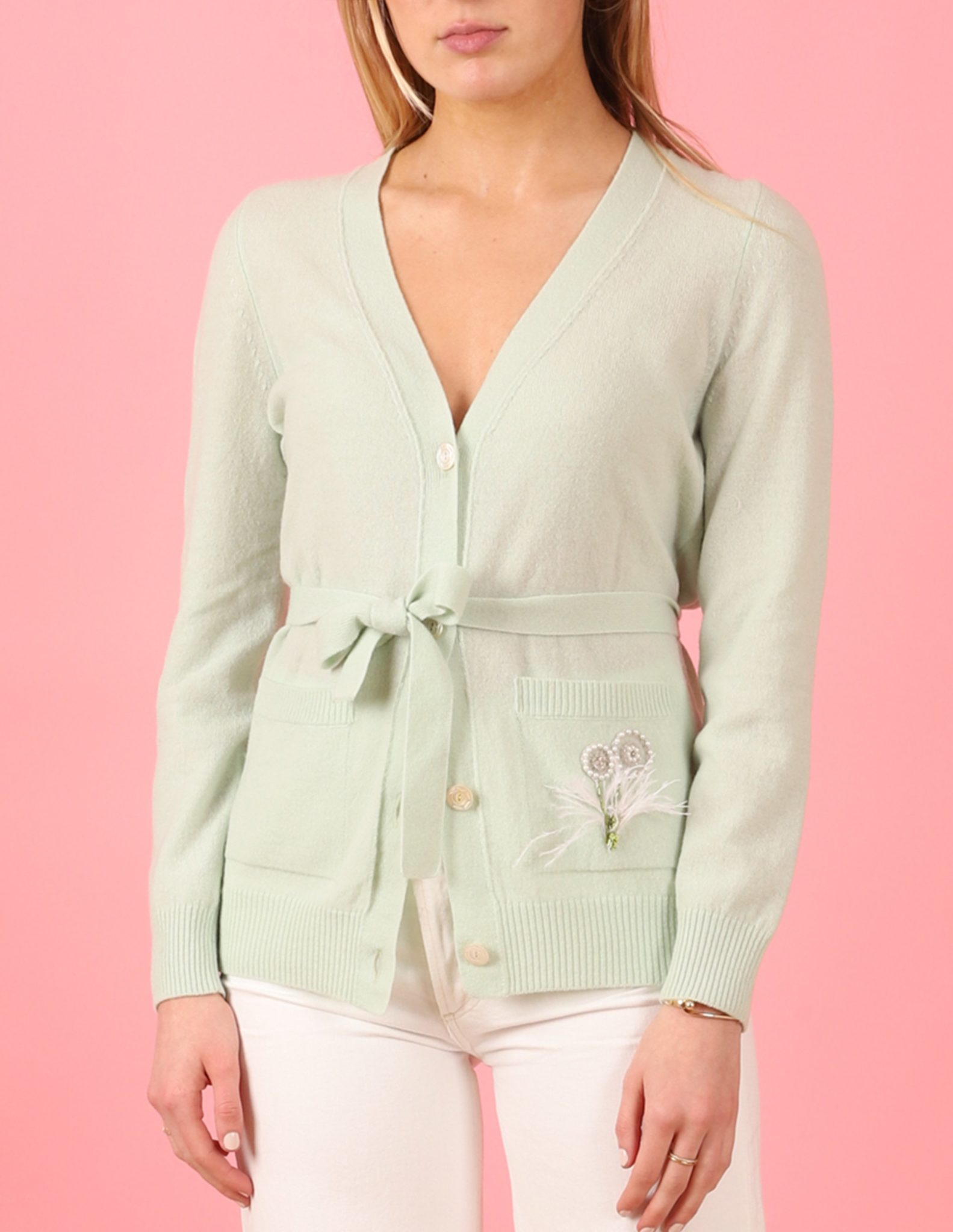 Where To Buy Unique Sweaters: Le Lion Alexandra Belted Cardigan | Rhyme & Reason