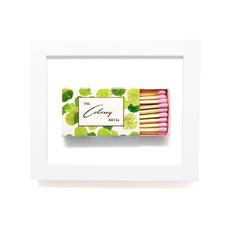 Matchbook Diaries Colony Hotel Framed Matches Print