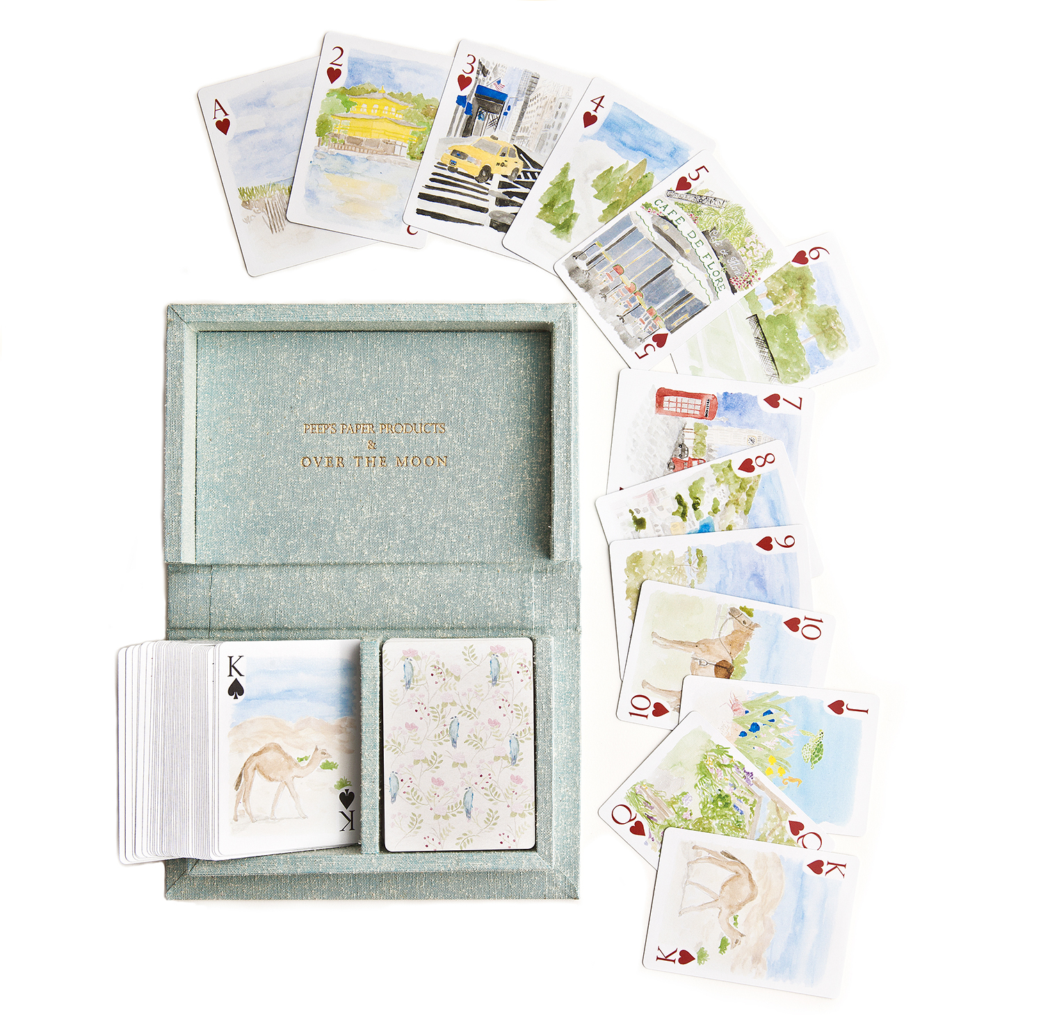 Over The Moon Around the World Playing Cards