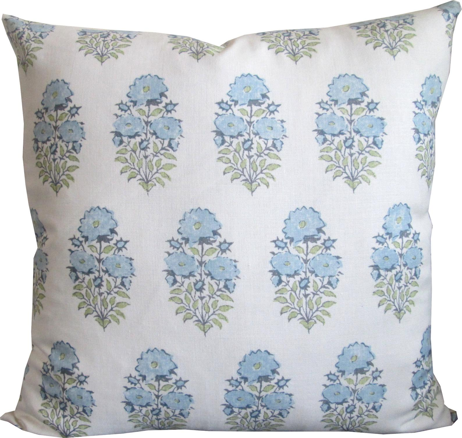 Mughal Flower In Monsoon Decorative Accent Pillow