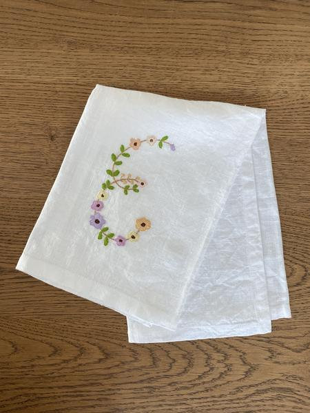 Hibiscus Linens Letter Hand Towels
