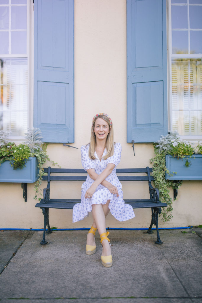 A Gal Meets Glam Collection white dress in Charleston that is perfect for spring, working from home, and Mother's Day | Rhyme & Reason