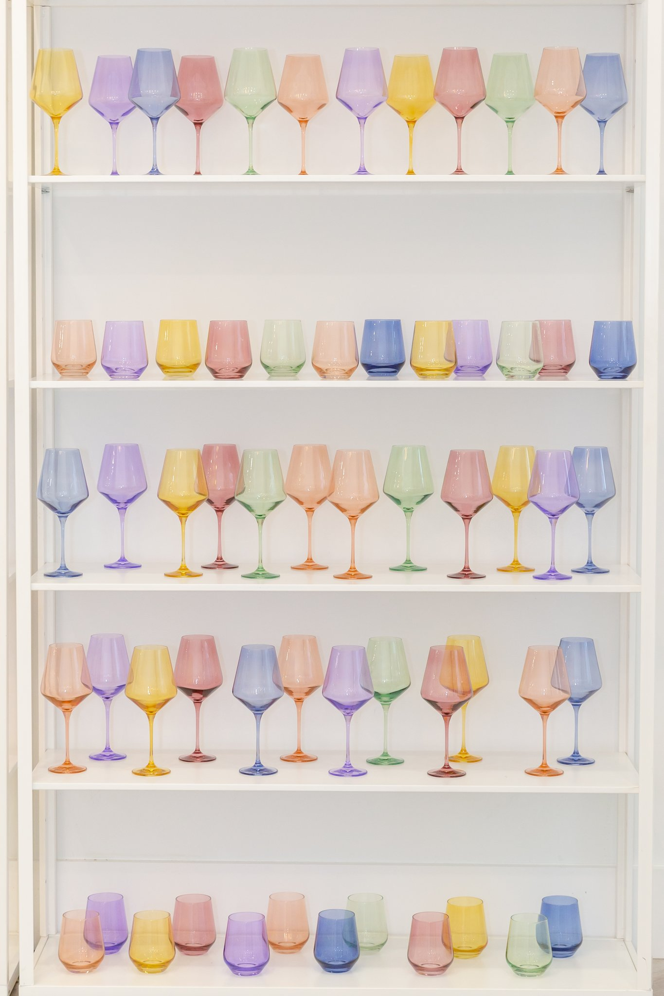 Summer Party Hostess Gifts: Estelle Colored Glass Wine Glasses