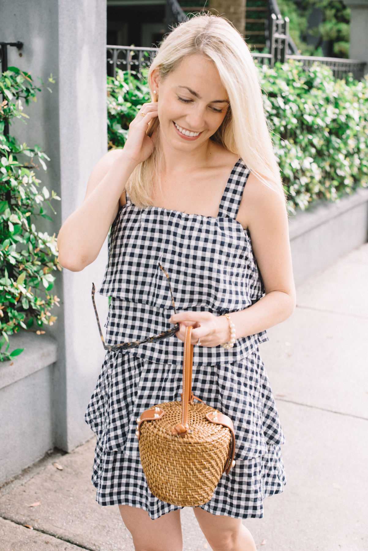How To Wear A Gingham Dress- Neutral Gingham Prints | Rhyme & Reason
