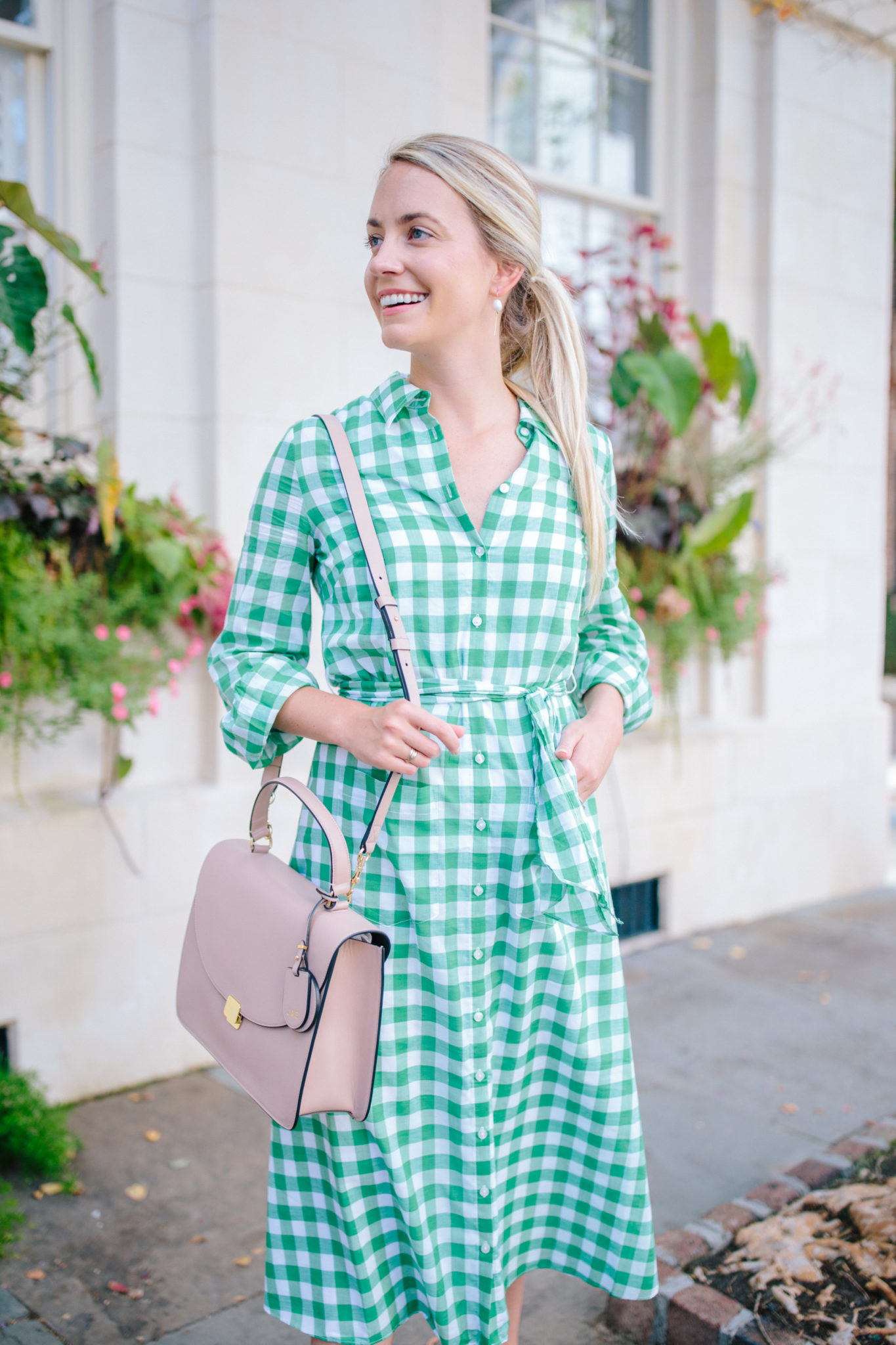 How To Wear A Gingham Dress- Gingham Shirtdresses | Rhyme & Reason