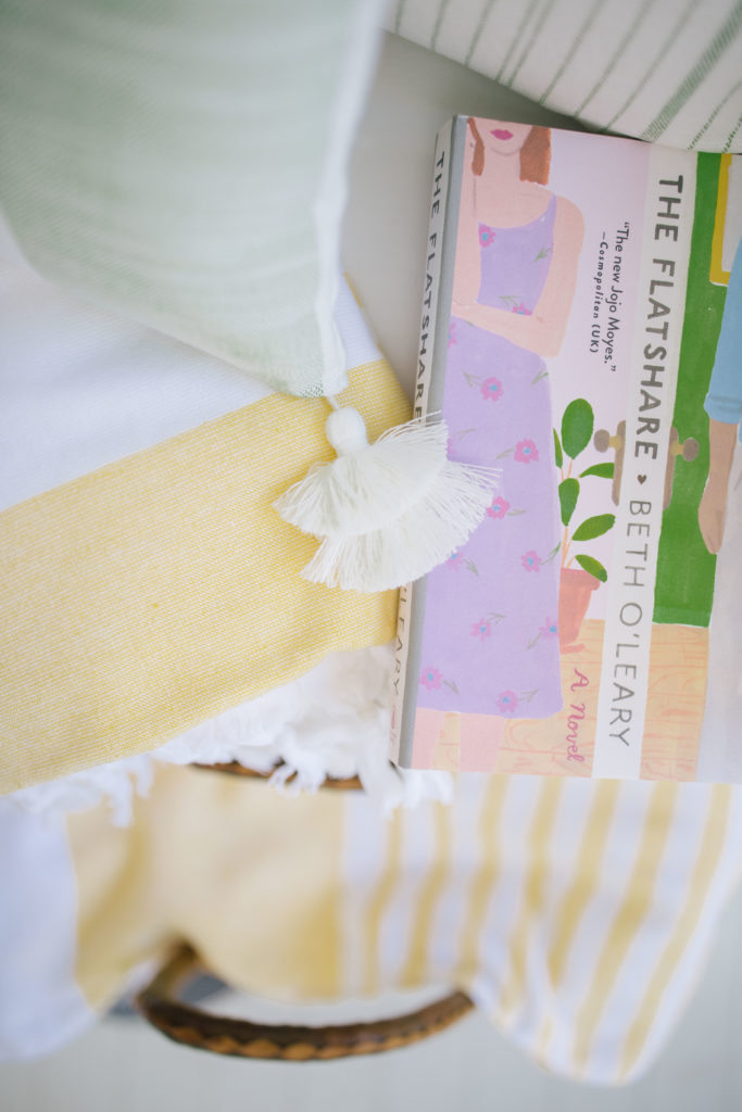 Serena & Lily 'Capri Fouta' towels in yellow),