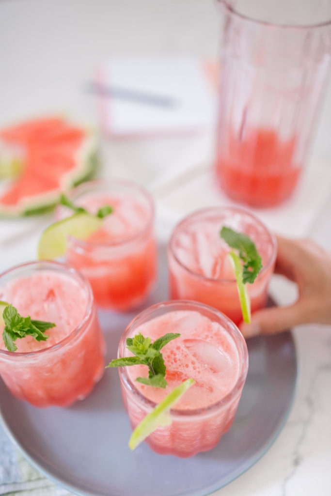 this watermelon agua fresca recipe is the most refreshing drink of the summer | Rhyme & Reason