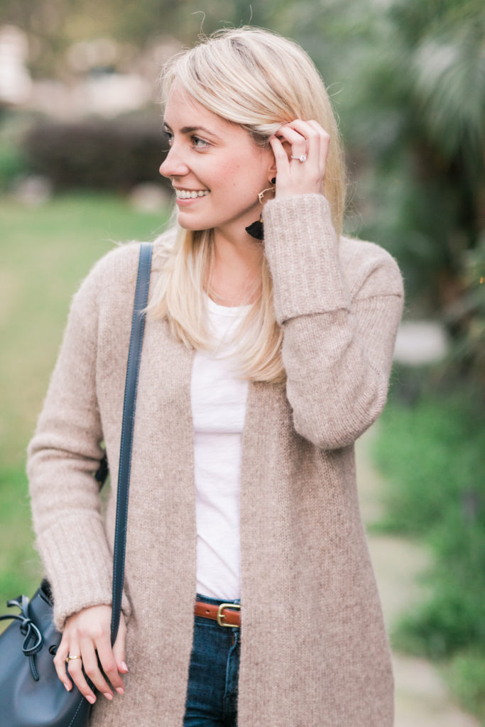 Classic Outfits To Recreate With The Nordstrom Anniversary Sale - Camel Cardigan