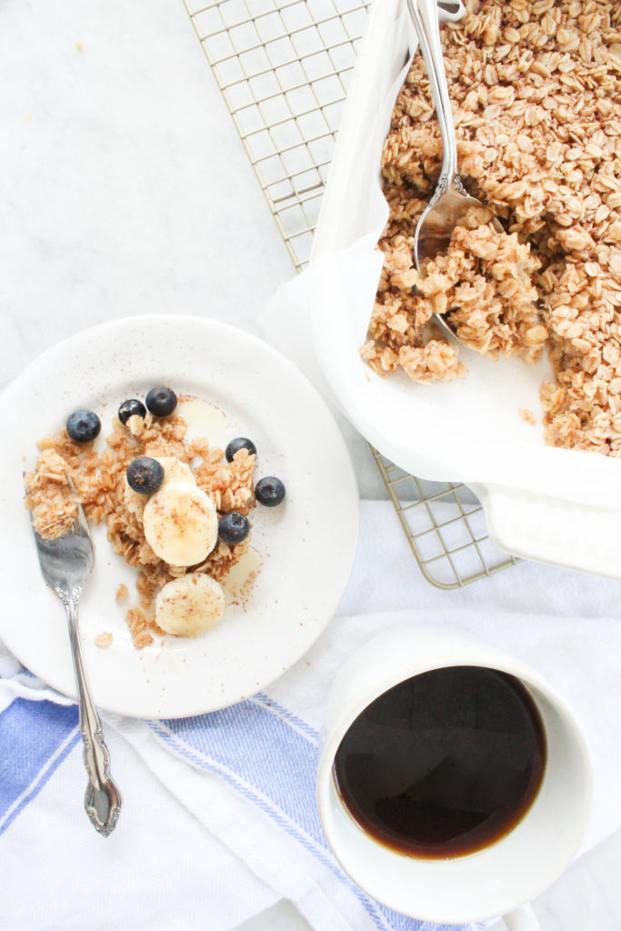 The Best Make Ahead Freezer Meals for Expectant Mothers - Healthy Baked Oatmeal | Rhyme & Reason