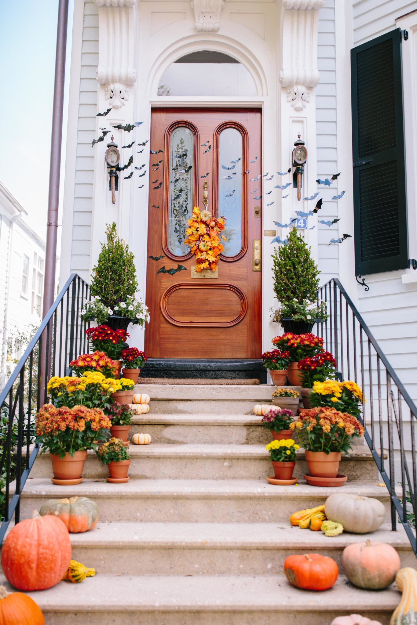 Fall Door Decor in Charleston + How to Decorate Your Front Door for Fall | Rhyme & Reason