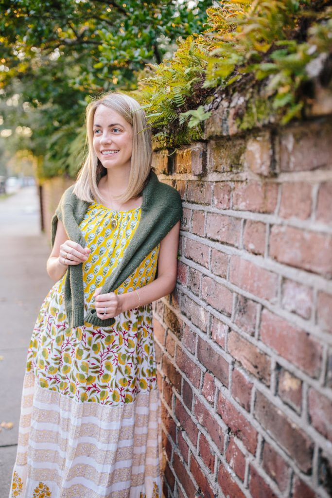 Block print dresses for fall | Rhyme & Reason