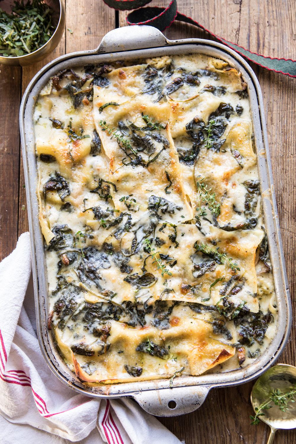 White Pesto Spinach Lasagna with Tieghan Gerard of Half Baked Harvest | Rhyme & Reason