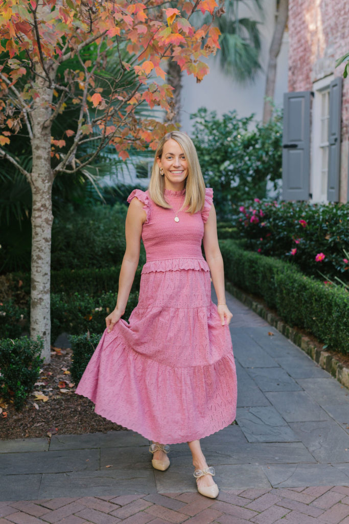 How to wear pink in the winter | Charleston Getaway Giveaway 2020