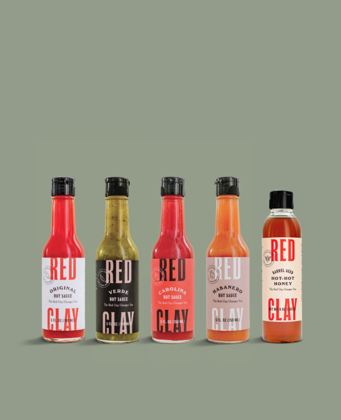 Red Clay Hot Sauce Gift for Guys