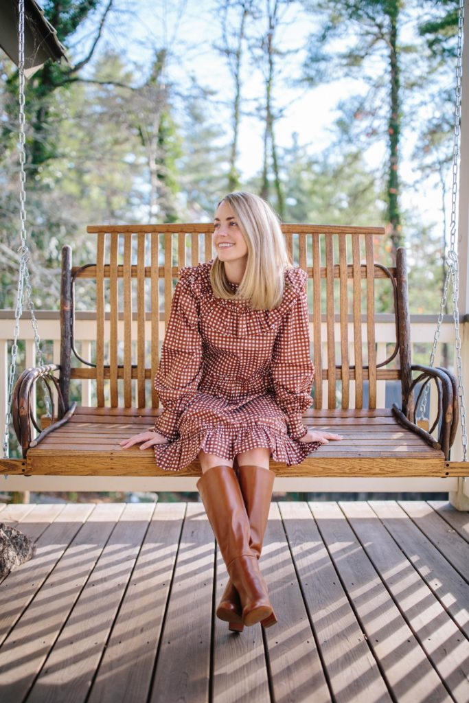 Celebrating our Third Wedding Anniversary in Cashiers | Cute dresses perfect for winter | Rhyme & Reason