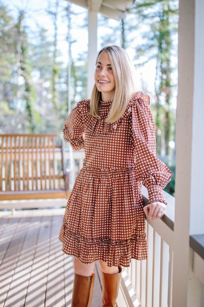 Celebrating our Third Wedding Anniversary in Cashiers | How to style a dress in the winter | Rhyme & Reason