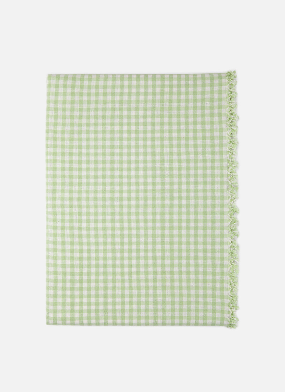 Heather Taylor Home Mini Gingham Check Honeydew Tablecloth