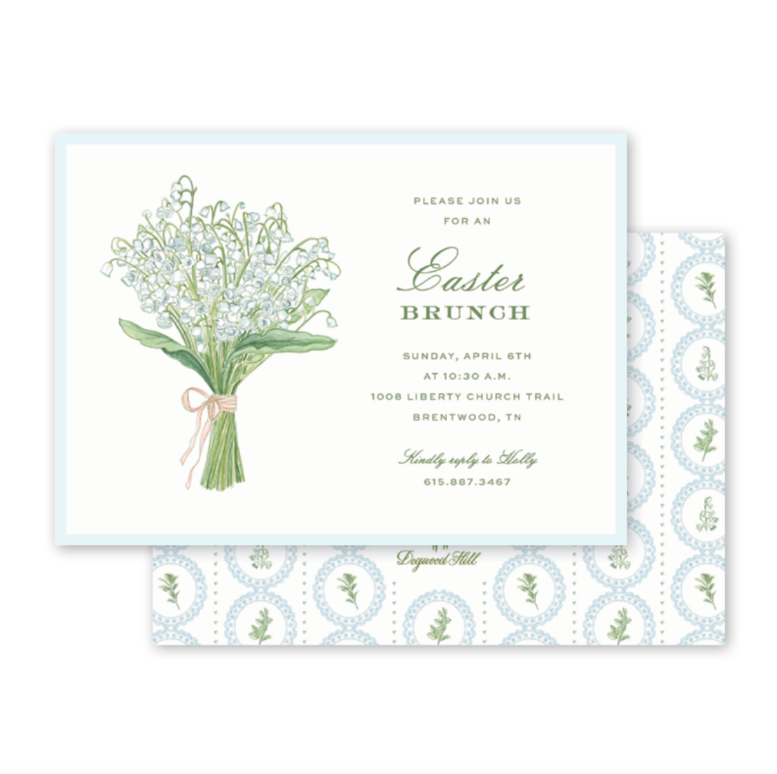Lily of the Valley Easter Brunch Invite