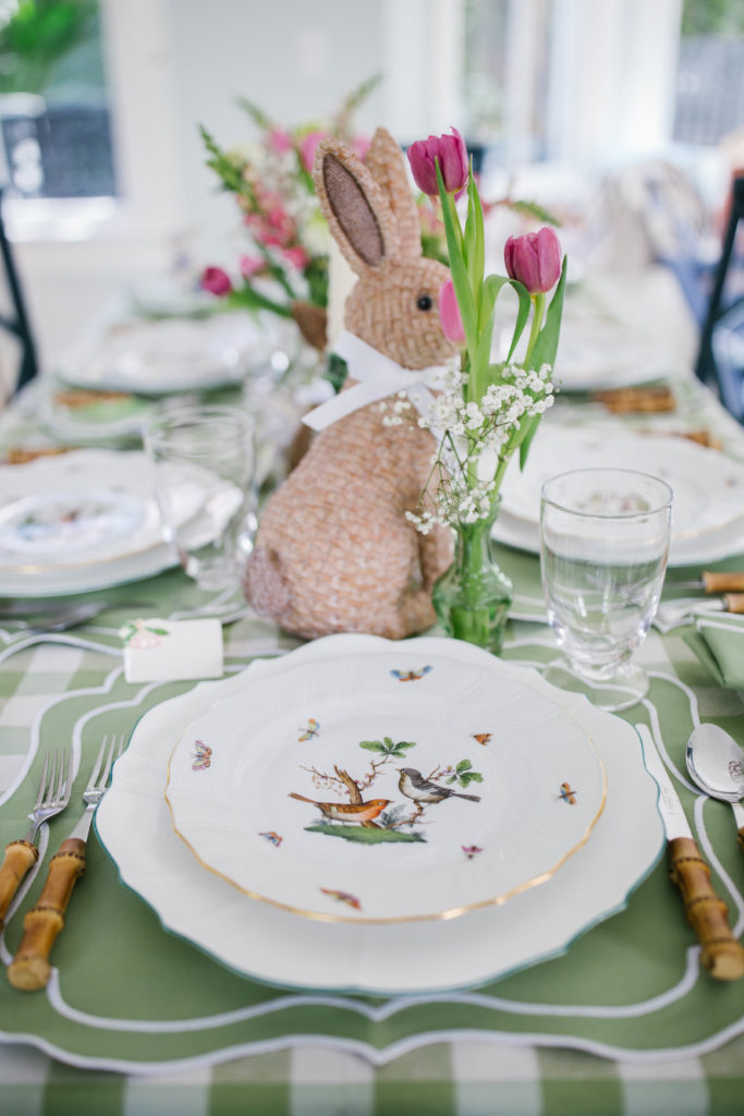 Pink and green Easter table ideas   Rhyme & Reason