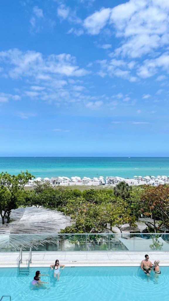 The view from The 1 Hotel South Beach in Miami | Rhyme & Reason