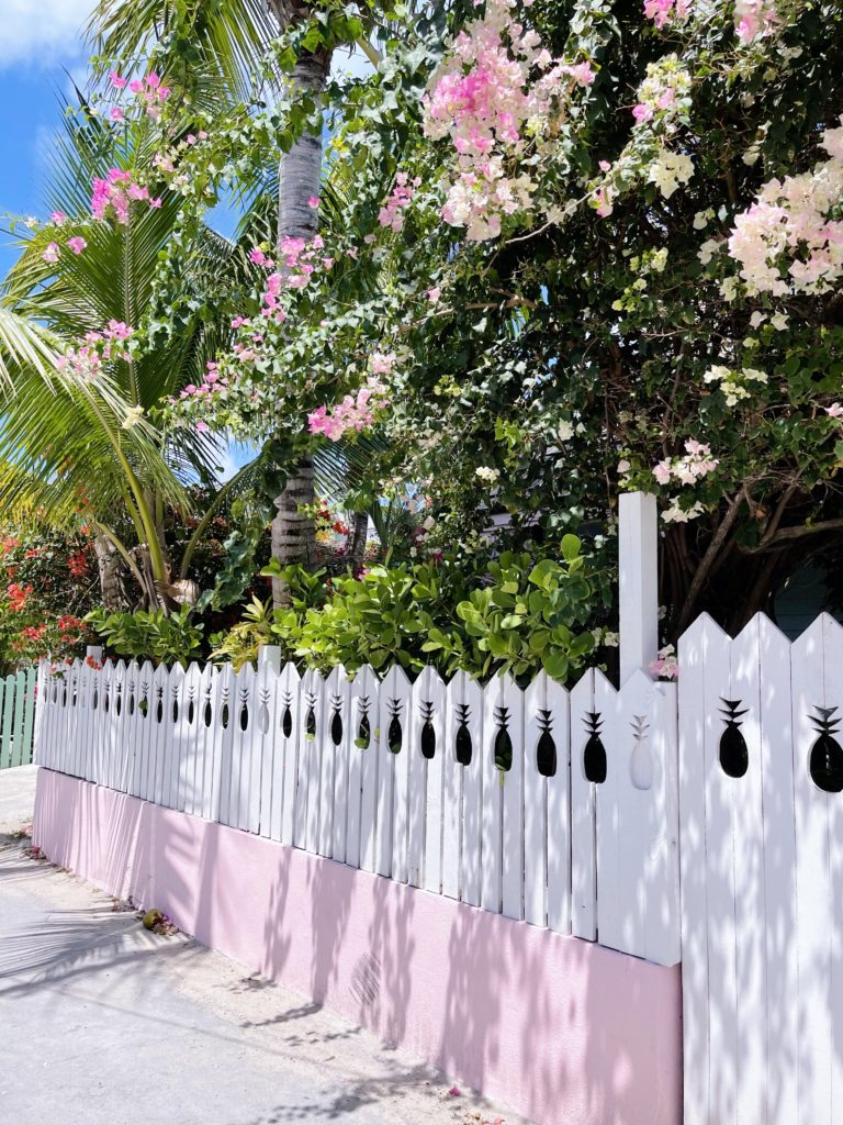 The famous pineapple fence on Harbour Island | Rhyme & Reason