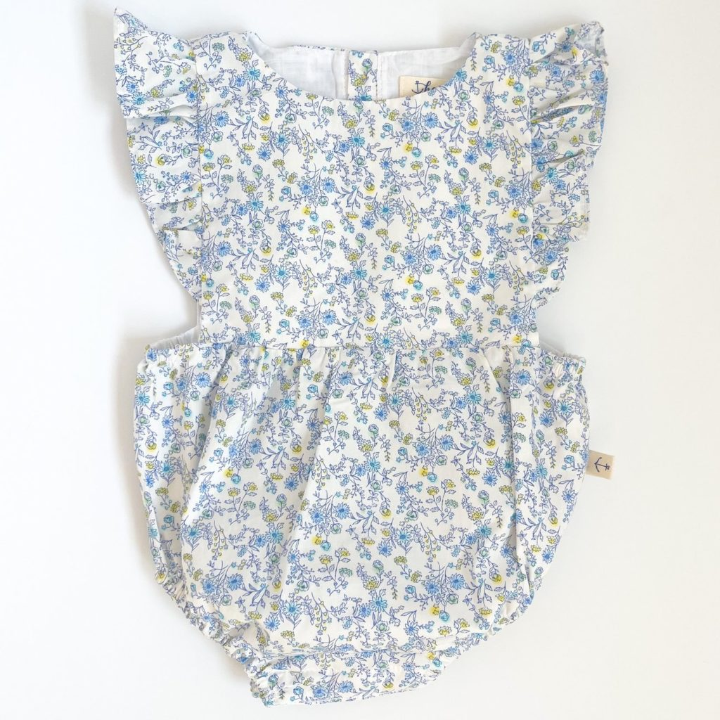 Harbour Ruffle Sunsuit in Floral