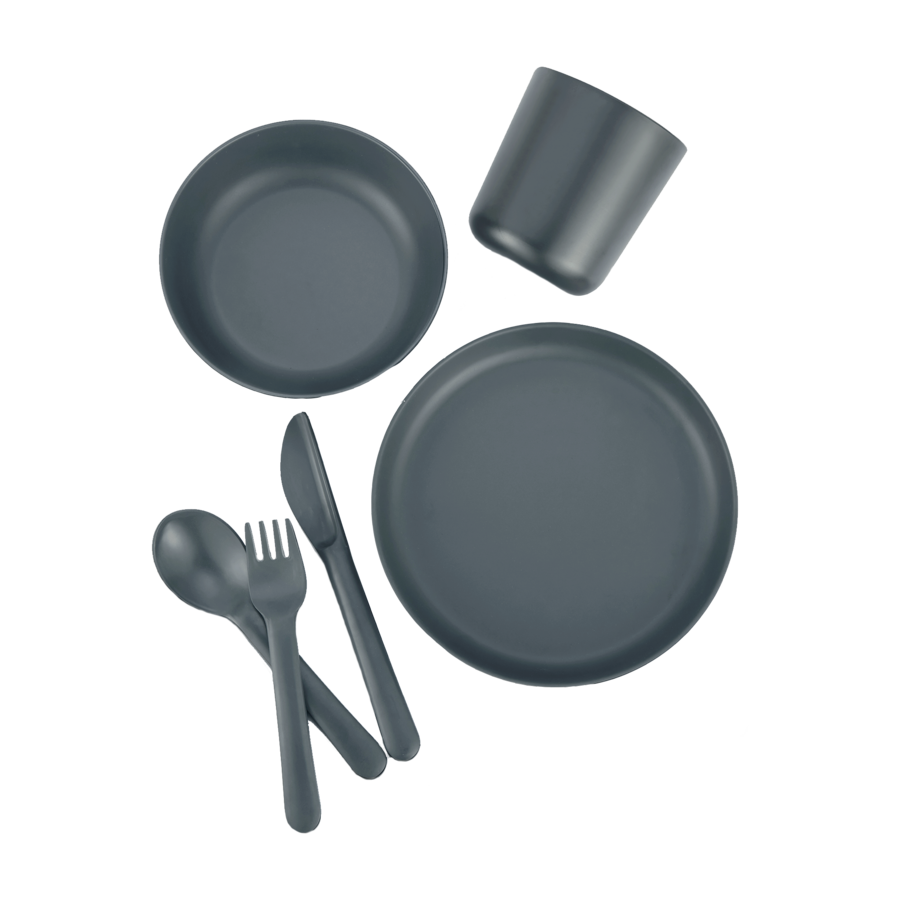 Olive Lane by Ekobo Kids Dinner Set with Round Plate