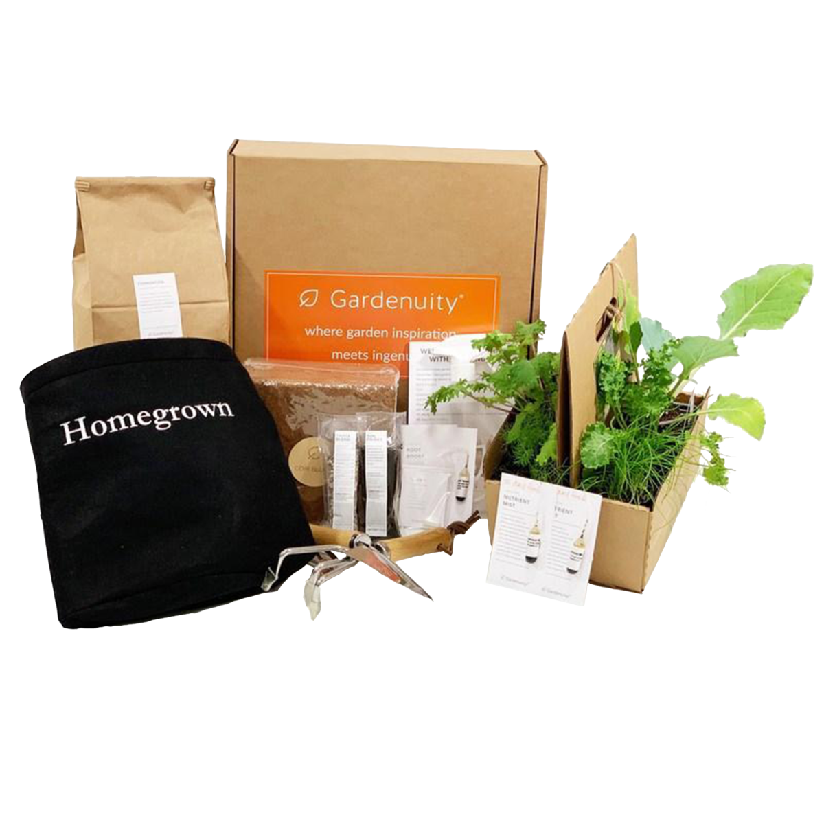Homegrown Garden Kit with Plants & Tools