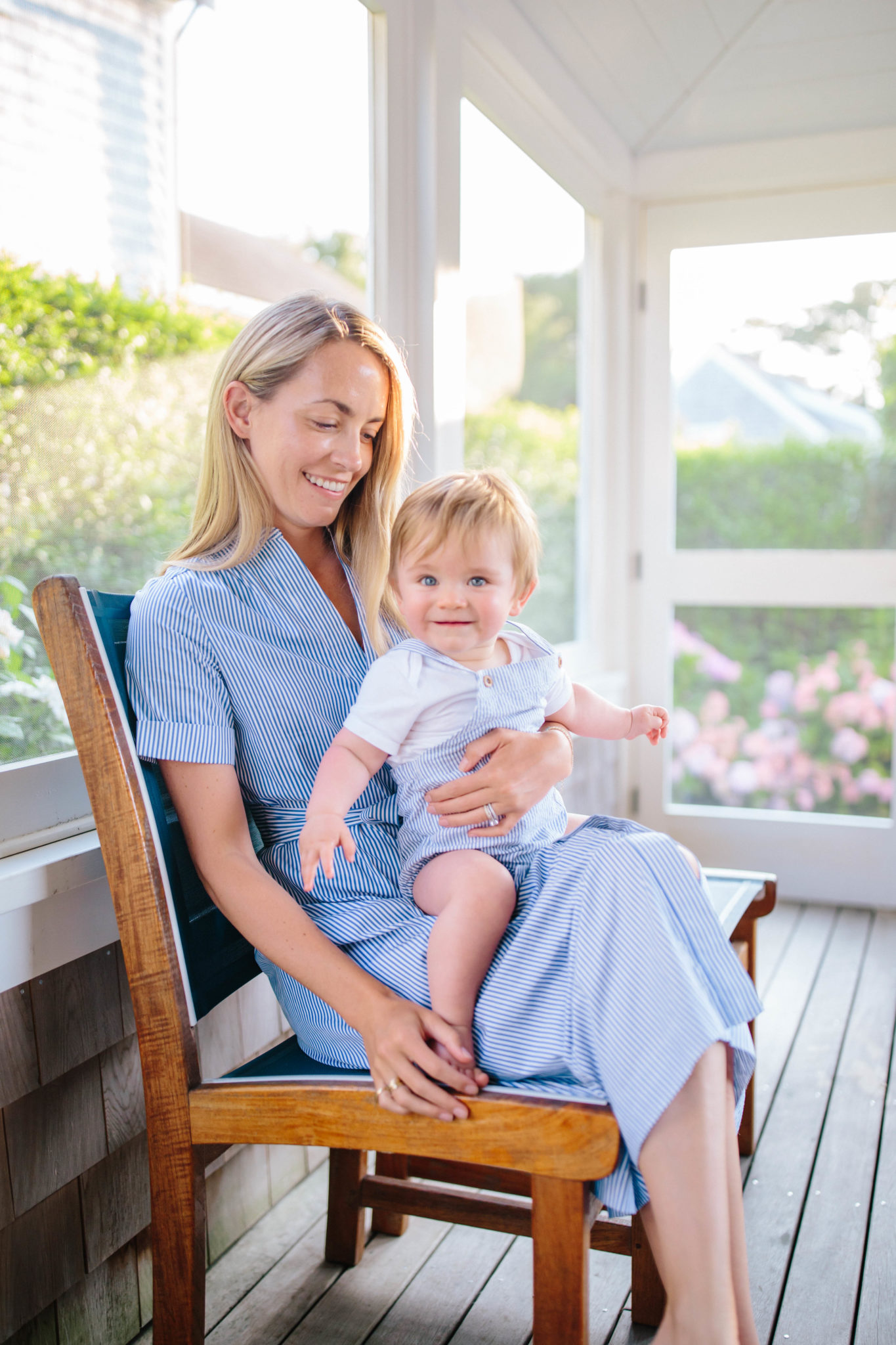 blue and white outfits for mothers and sons   Rhyme & Reason
